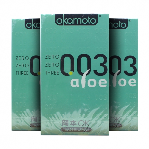 3 Boxes OKAMOTO 003 ALOE CONDOM 6'S PACK