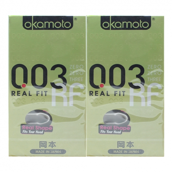 2 Boxes OKAMOTO 003 REAL FIT CONDOM 6'S PACK