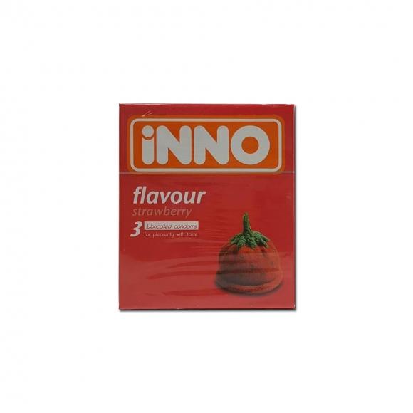 iNNO Strawberry Flavour Condom (For Pleasurity With Taste) 3pcs