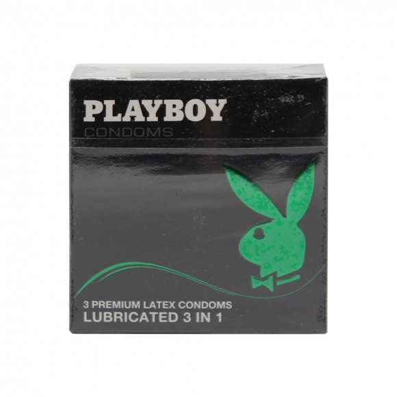 Playboy Condoms Lubricated 3in1  3's (Expire 09-2017)