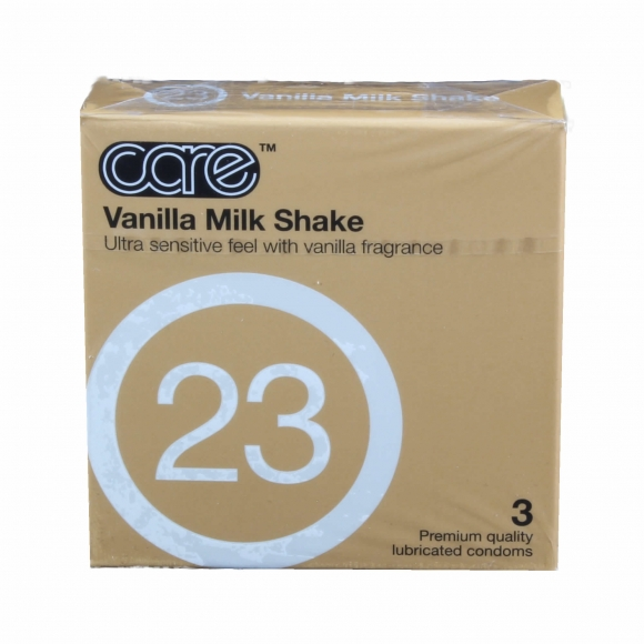 Care 23 - The Vanilla Milkshake Condom / Kondom 3pcs