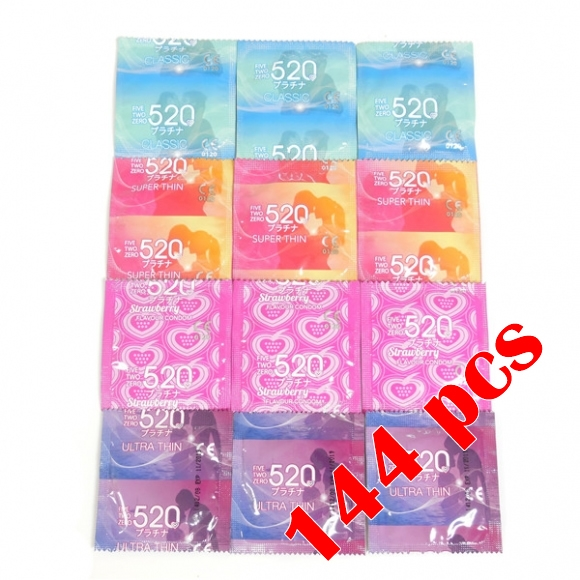 520 Brand New 4 in 1 Easy Pack Condom / Kondom, 4 types total 144 pcs