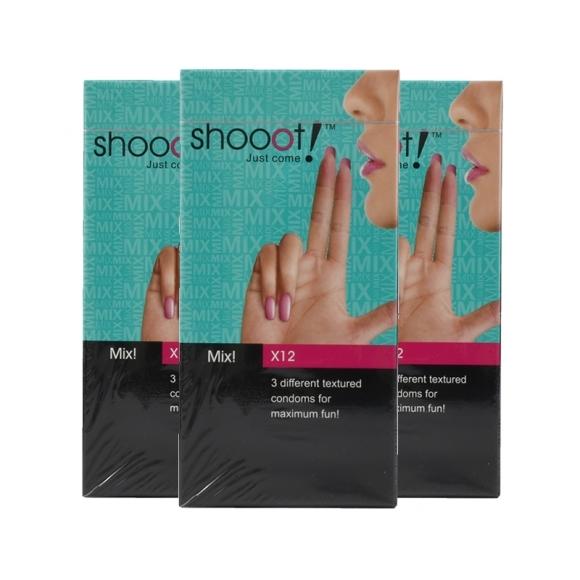 3 boxes SHOOOT MIX! Condom / Kondom 12's