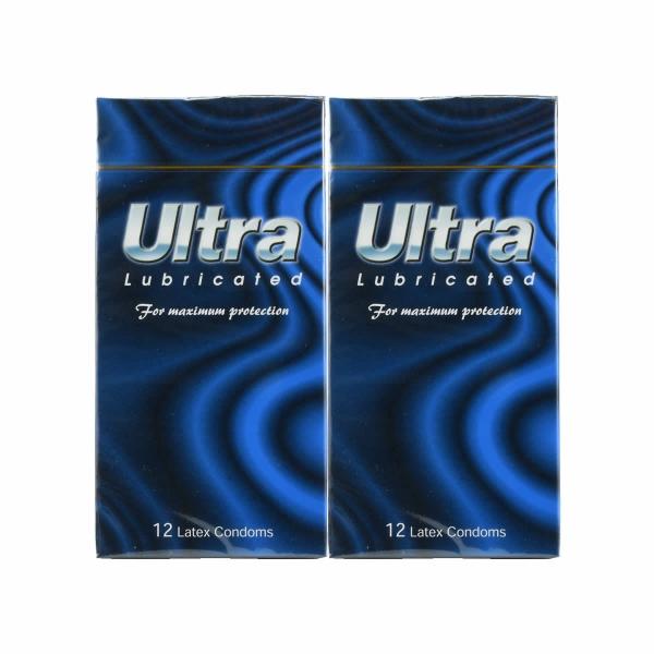 2 Boxes ULTRA Lubricated Condom / Kondom - 12 pcs