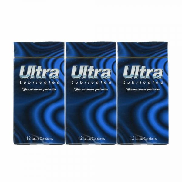 3 Boxes ULTRA Lubricated Condom / Kondom - 12 pcs