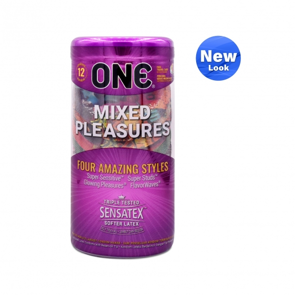 ONE Condom - Mixed Pleasures 12 - Pack (Free One Vibe)