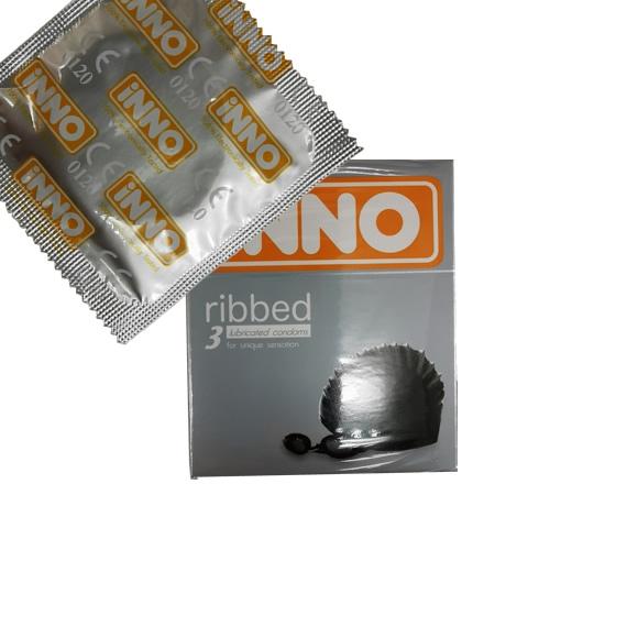 iNNO Ribbed Condom / Kondom - 1 piece