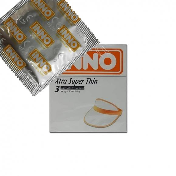 iNNO Ribbed xtra Super Thin Condom / Kondom - 1 piece