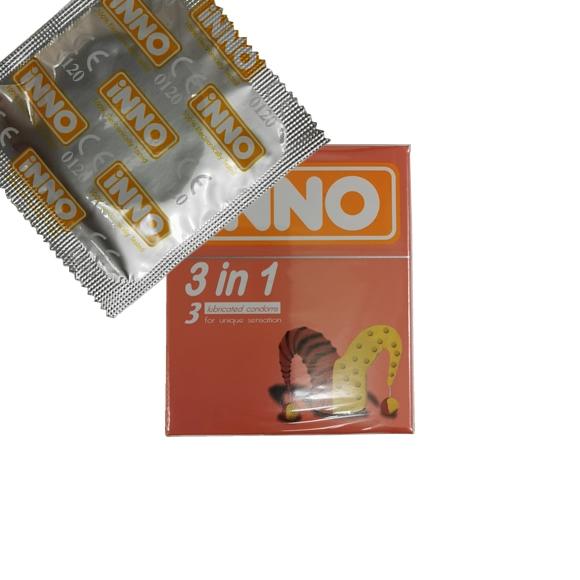 iNNO 3 in 1 Condom / Kondom - 1 piece