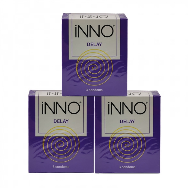 3 Boxes iNNO Delay Condoms (Long Lasting / Long Shock / Tahan Lama) 3's