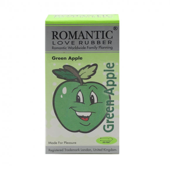 Romantic Love Rubber Aroma - Green Apple - 12's