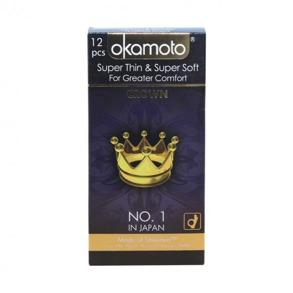 OKAMOTO SUPER THIN & SOFT- CROWN 12'S Pack