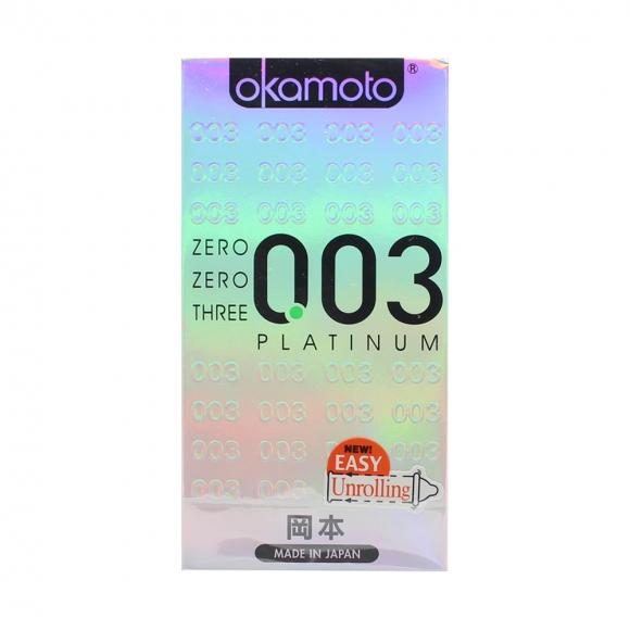 OKAMOTO ZERO ZERO THREE PLATINUM CONDOM 10's PACK