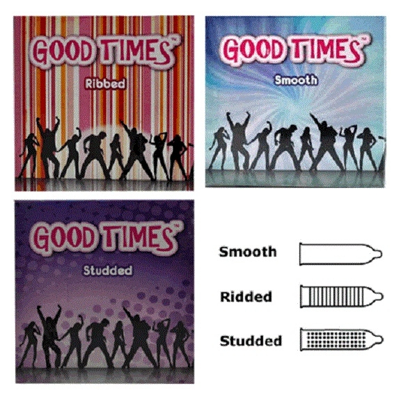 Good Times 3 in 1 condom - 9's