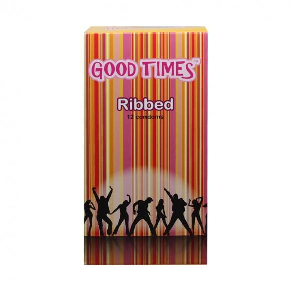Good Times Ribbed condom - 12's