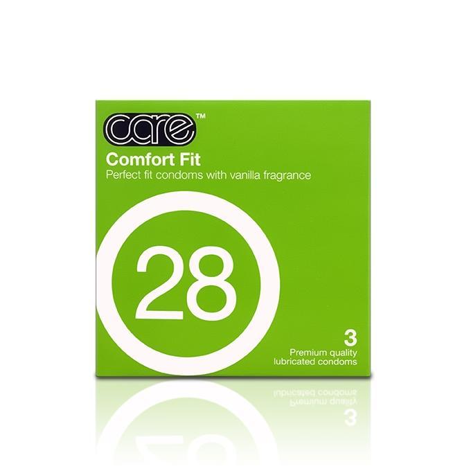 Care 28 Comfort Fit Condom - 3's
