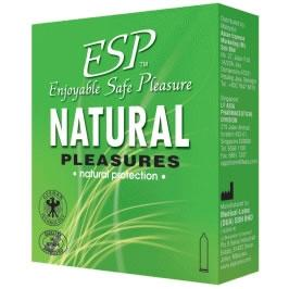 ESP (Enjoyable Safe Pleasure) Condom - Natural Pleasures 3's