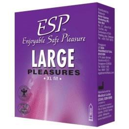 ESP (Enjoyable Safe Pleasure) Condom - Large Pleasures 3pcs