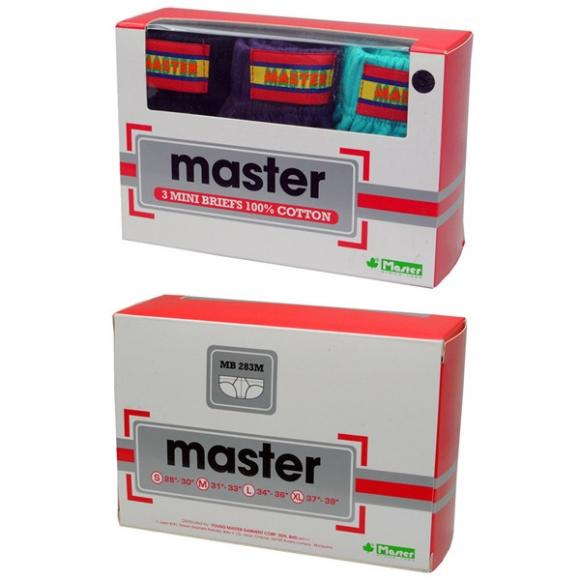 MASTER Mini Briefs MB283MS (3 pieces)-S Size