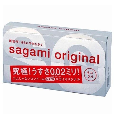 ORIGINAL SAGAMI 0.02 CONDOM - 6 pcs
