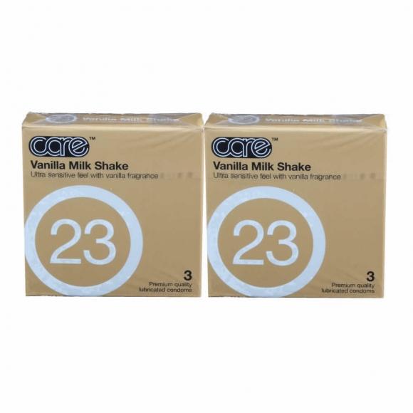 2 Boxes Care 23 - The Vanilla Milkshake Condom / Kondom 3pcs