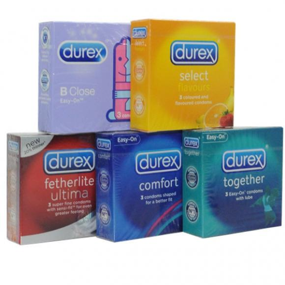 Package B Durex 3 pcs Condom 5 in 1 Pack - 15's