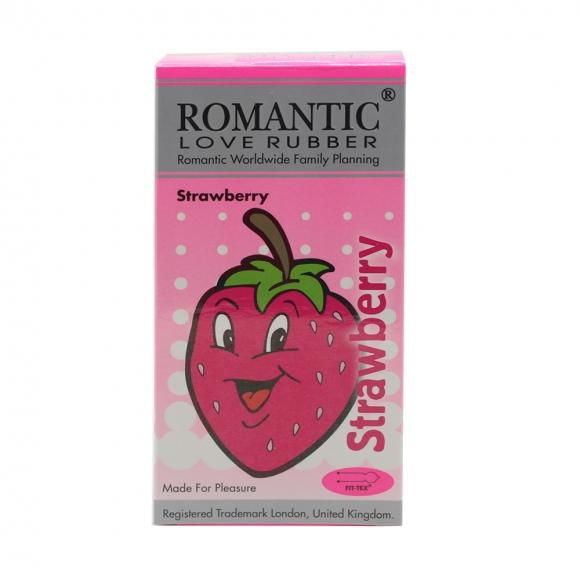 Romantic Love Rubber Aroma -Strawberry - 12's