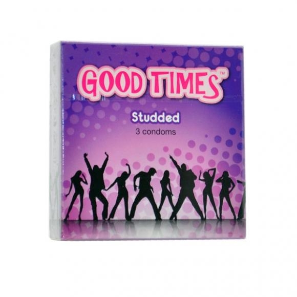 Good Times Studded condom - 3's