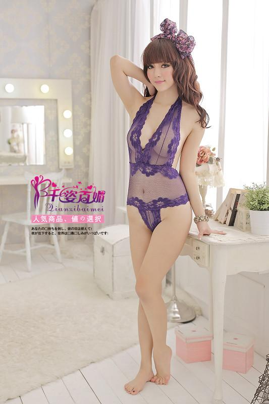 Sexy Lingerie Corset - Purple color 3
