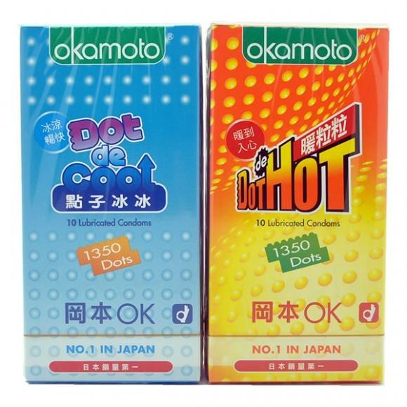OKAMOTO DOT DE HOT and DE COOL Condom - 20's 2