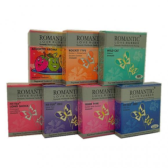 Romantic Love Rubber 3's 7 in 1 Condom Pack - 21's