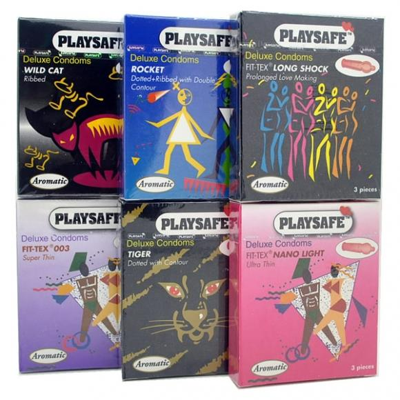 Playsafe 6 in 1 Combo Pack Condom (Kondom), 6 boxes 18 pcs