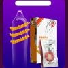 Spike Shape Fun Sex Condom - Type  C (Yellow Phoenix)