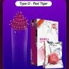 Spike Shape Fun Sex Condom - Type D (Red Tiger)