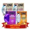 One Condoms Party Pack 4in1 (Hyperthin, Mixed Pleasures, Super Stud)