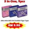 Romantic Love Rubber 3 in 1 Combo Set - 9's